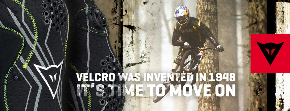 velcro ad for dainese knee guard