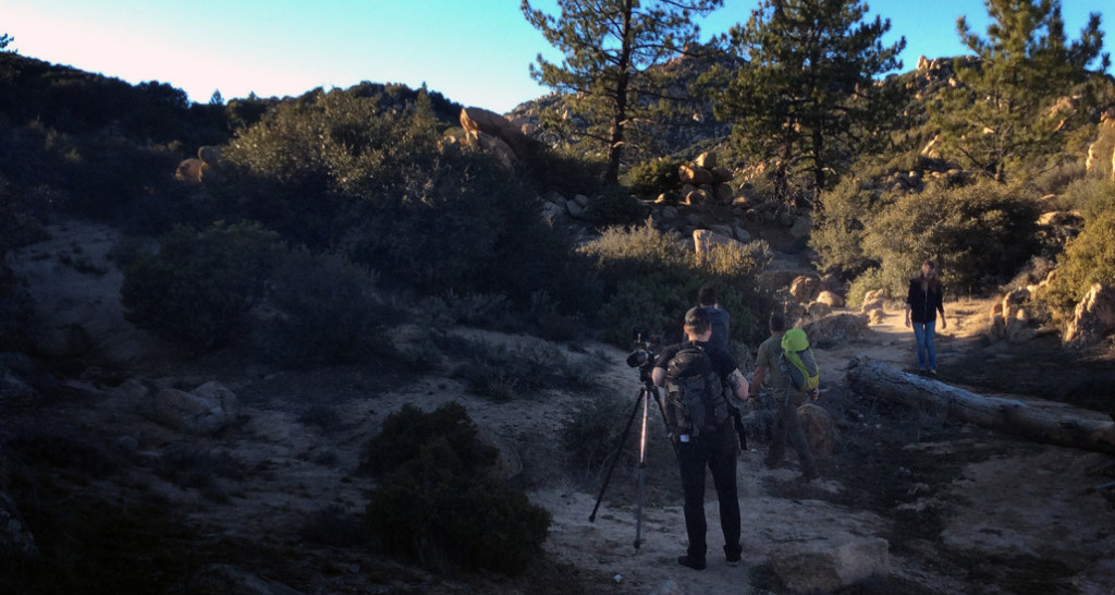 Echo-Studios behind the scenes in a remote mountain on-location shoot for Maglite.